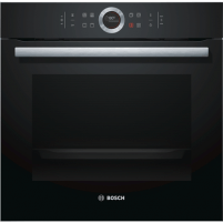 Orkaitė Bosch Oven HBG632BB1S Multifunctional, 71 L, Black, activeClean pyrolysis, Rotary switch, Height 59,5 cm, Width 59,5 cm, Integrated timer, Built-in