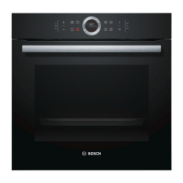 Orkaitė Bosch Oven HBG672BB1S Built in, 71 L, Black, Pyrolysis, A+, Control ring with all text and symbols, Height 60 cm, Width 60 cm, Integrated timer