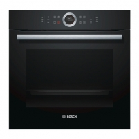 Orkaitė Bosch Oven HBG672BB1S Built in, 71 L, Black, Pyrolysis, A+, Control ring with all text and symbols, Height 60 cm, Width 60 cm, Integrated timer Cepeškrāsns