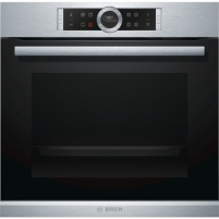 Orkaitė Bosch Oven HBG672BS1 Multifunction, 71 L, Stainless steel, Pyrolysis, Rotary and electronic, Height 60 cm, Width 60 cm Cepeškrāsns