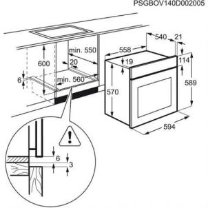 Oven Electrolux EZB3430AOK