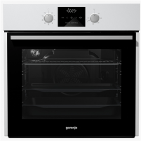 Orkaitė Gorenje Multifunctional Oven BO635E11W 65 L, White, AquaClean, A, Mechanic, Height 60 cm, Width 60 cm, Integrated timer, Electric