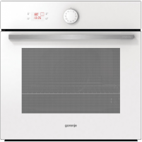 Orkaitė Gorenje Multifunctional Oven BO75SY2W 65 L, White, AquaClean, A, Mechanical, Height 60 cm, Width 60 cm, Integrated timer, Electric