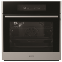 Orkaitė Gorenje Oven BO658A41XG 65 L, Black, Stainless steel, AquaClean, A+, Touch, Height 60 cm, Width 60 cm, Electric Įmontuojamos orkaitės