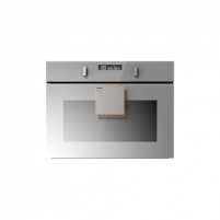 Orkaitė Gorenje Oven with microwawe BCM547ST Built-in, 50 L, Grey, AquaClean, Electronic IconTouch, Height 45.5 cm, Width 60 cm, Cepeškrāsns