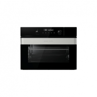 Orkaitė Gorenje Oven with steamer BCS547ORAB Built-in, 50 L, Black, AquaClean, Electronic IconTouch, Height 45.5 cm, Width 60 cm, Cepeškrāsns