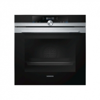 Oven SIEMENS HB672GBS1S Multifunctional, 71 L, Stainless steel/ black, activeClean pyrolysis, Height 59,5 cm, Width 59,5 cm, Integrated timer