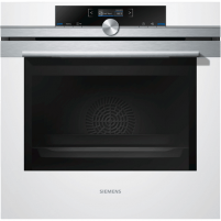 Oven SIEMENS HB672GBW1S Multifunctional, 71 L, Stainless steel / White, activeClean pyrolysis, Height 59,5 cm, Width 59,5 cm, Integrated timer