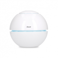 Oro drėkintuvas Duux Sphere Humidifier, 15 W, Water tank capacity 1 L, Suitable for rooms up to 15 m², Ultrasonic, Humidification capacity 130 ml/hr, White Gaisa mitrinātāju