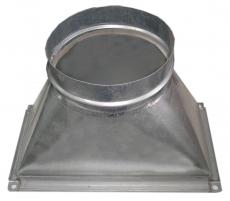 Ortakio pereiga iš stačiakampio į apvalų 160x150x400 Ventilācijas sistēmas