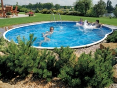 Oval outdoor swimming pool DeLuxe 404DL Outdoor swimming pools