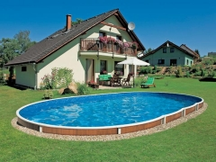 Oval outdoor swimming pool DeLuxe 405DL Outdoor swimming pools