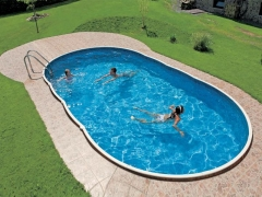 Oval outdoor swimming pool DeLuxe 407DL