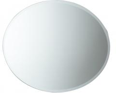 Ovalus veidrodis 75x55, su facetu