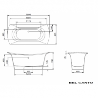 PAA vonia Bel Canto 180x85