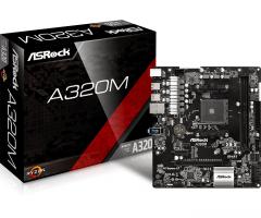 Pagrindinė plokštė ASRock A320M, AM4, 4xSATA3, DDR4, USB 3.0