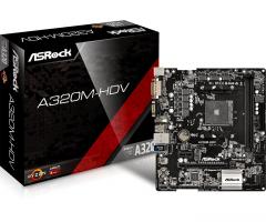 Pagrindinė plokštė ASRock A320M-HDV, AM4, 4xSATA3, DDR4, USB 3.0