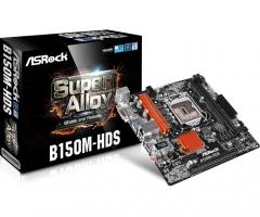 Pagrindinė plokštė ASRock B150M-HDS, B150, DualDDR4-2133, SATA3, HDMI, DVI, mATX