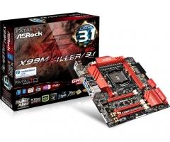 Pagrindinė plokštė ASRock Fatal1ty X99M KILLER/3.1, X99, DualDDR4-2133, SATA3, SATAe, USB 3.1, mATX