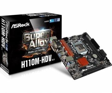 Pagrindinė plokštė ASRock H110M-HDV R3.0, H110, DDR4 2133, DVI-/D-Sub/HDMI