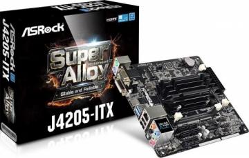 Pagrindinė plokštė ASRock J4205-ITX, J4205, DualDDR3-1866, SATA3, HDMI, DVI, USB 3.0, mITX