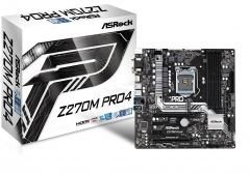 Pagrindinė plokštė ASRock Z270M Pro4, INTEL Z270 Series, LGA1151,4 DDR4, 2 x M.2 (for SSD)