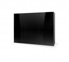 Komoda LIVO KM-120 juoda Baldų kolekcija LIVO