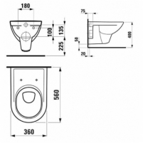 Hanging toilet Laufen PRO with cover