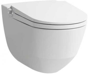 Pakabinamas unitazas CLEANET RIVA with apiplovimo fukcija, Rimless withaut nuplovimo lanko, LCC danga, baltas Lavatory closets