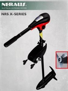 Pakabinamas valties variklis NERAUS NRS 62X - su indikacija! Elektriniai valčių varikliai