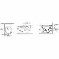 Pakabinamas WC su dangčiu Sofclose Omnia Architectura, su rimles Klozetai unitazai