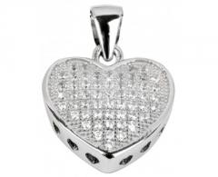 Pakabukas Beneto Přívěsek srdce ze stříbra AGH22