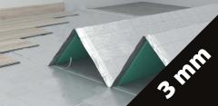 Paklotas IZO-MET 3 mm, 1x10m (10 m2/pak) su drėgmės izoliacija Grīdas segumu ieklāšana