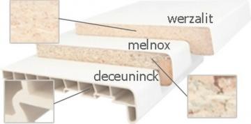 Palangė DECEUNINCK PVC 20x500x6000 mm, baltos spalvos, pjauta PVC palangės