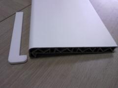 Palangė PVC 200x6000 mm, baltos spalvos