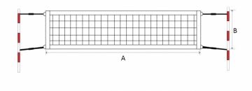 Paplūdimio teniso tinklas ECONOM 9,5x1m Lauko teniso tinklai