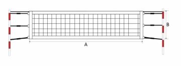 Paplūdimio teniso tinklas SPORT 9,5x1m PE 45x45x3mm, 6 Lauko teniso tinklai