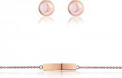 Papuošalų komplektas Emily Westwood Set of steel jewelry WS027R Papuošalų komplektai