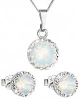 Papuošalų komplektas Evolution Group Glamorous Jewelry Set 39152.7 white opal Papuošalų komplektai