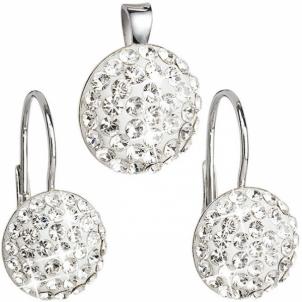 Papuošalų komplektas Evolution Group Set of jewelry with crystals Swarovski 39086.1 Papuošalų komplektai