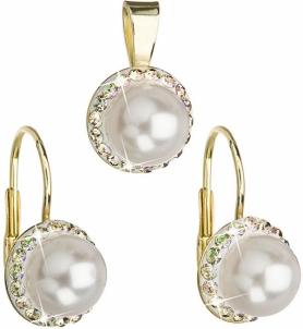 Papuošalų komplektas Evolution Group Set with pearls and Swarovski crystals 39091.6 luminous green Papuošalų komplektai