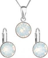 Papuošalų komplektas Evolution Group Silver jewelry set 39140.7 white opal Papuošalų komplektai