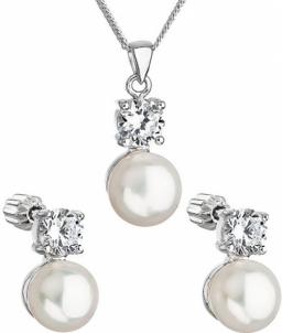 Papuošalų komplektas Evolution Group Zircon 29002.1 AAA white pearl set Papuošalų komplektai