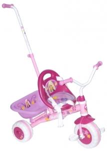 Paspirtukas-dviratis Barbie 3921, su rankena