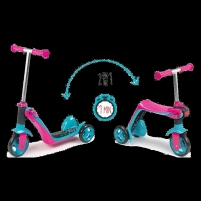 Paspirtukas Smoby Reversible 2in1 Scooter pink