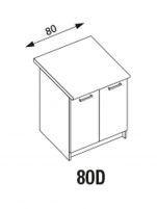 Pastatoma spintelė Amanda1 80D Standing kitchen cabinets