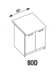 Pastatoma spintelė Amanda2 80D Standing kitchen cabinets