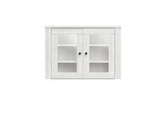 Pastatoma vitrina Amsterdam NAD2W/7/10 balta Svetainės baldų kolekcija AMSTERDAM