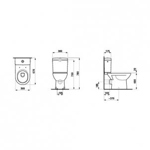 Pastatomas tualete Laufen Pro
