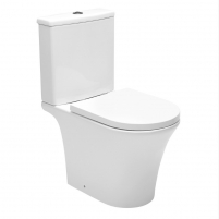 Acting toilet Swiss Aqua Technologies, Brevis Rimfree, with slow rectractable cover Lavatory closets